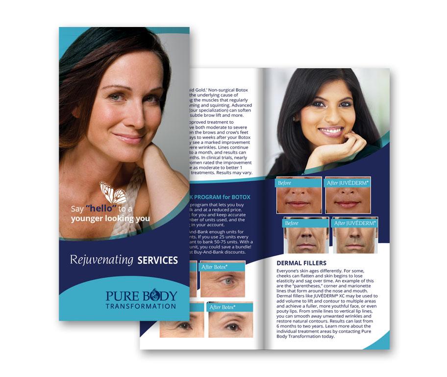 purebody bifold brochure