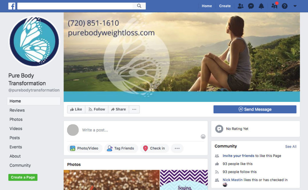 purebody transformation facebook