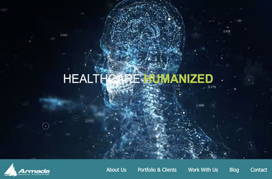 Armada Medical Marketing new website